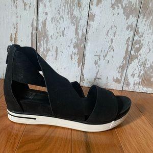 Eileen Fisher Black Suede Sport Platform Sandal